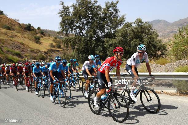 Michal Kwiatkowski of Poland and Team Sky Red Leader Jersey /Tao Geoghegan Hart of Great Britain and Team Sky / Peloton / during the 73rd Tour of...