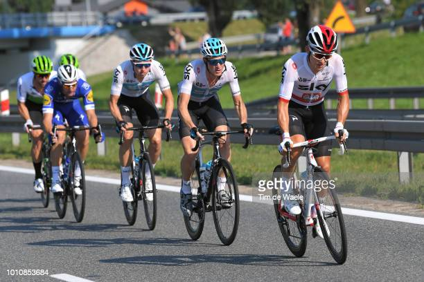 Michal Kwiatkowski of Poland and Team Sky / Salvatore Puccio of Italy and Team Sky / during the 75th Tour of Poland 2018 Stage 1 a 1337km stage from...
