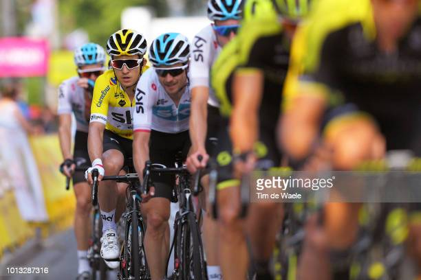 Michal Kwiatkowski of Poland and Team Sky Yellow Leader Jersey / during the 75th Tour of Poland 2018 Stage 5 a 1522km stage from Kopalnia Soli...