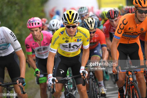 Michal Kwiatkowski of Poland and Team Sky Yellow Leader Jersey / during the 75th Tour of Poland 2018, Stage 7 a 136,6km stage from Bukovina Resort to...