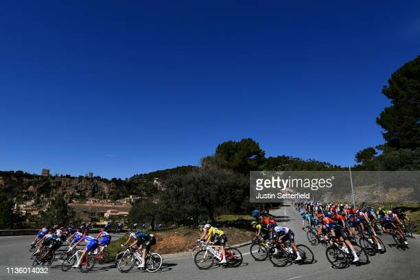 Michal Kwiatkowski of Poland and Team Sky Yellow Leader Jersey / Egan Arley Bernal of Colombia and Team Sky / White Best Young Jersey / Peloton /...