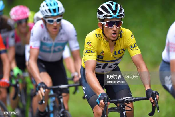 Michal Kwiatkowski of Poland and Team Sky Yellow Leaders Jersey / during the 70th Criterium du Dauphine 2018 Stage 4 a 181km stage from ChazeysurAin...