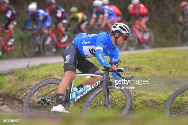 Michal Kwiatkowski of Poland Blue Leader Jersey during the 53rd TirrenoAdriatico 2018 Stage 6 a 153km stage from Numana to Fano on March 12 2018 in...
