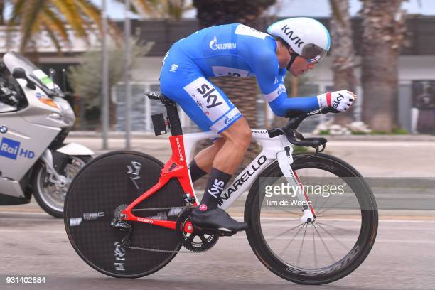 Michal Kwiatkowski of Poland Blue Leader Jersey during the 53rd TirrenoAdriatico 2018 Stage 7 a 105km Individual Time Trial stage in San Benedetto...