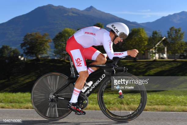 Michal Kwiatkowski of Poland / during the Men Elite Individual Time Trial a 52,5km race from Rattenberg to Innsbruck 582m at the 91st UCI Road World...