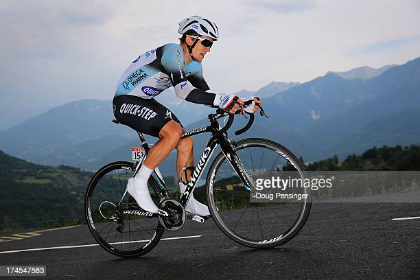 Michal Kwiatkowski of Poland riding for Omega Pharma-Quick Step competes during stage seventeen of the 2013 Tour de France, a 32KM Individual Time...