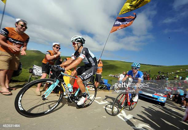 Michal Kwiatkowski of Team Omega PharmaQuick Step during Stage 16 of the Tour de France on July 22 2014 in BagneresdeLuchon France