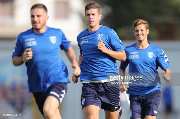 Michal Marcjanik of Empoli FC in action during training session on September 18 2018 in Empoli Italy
