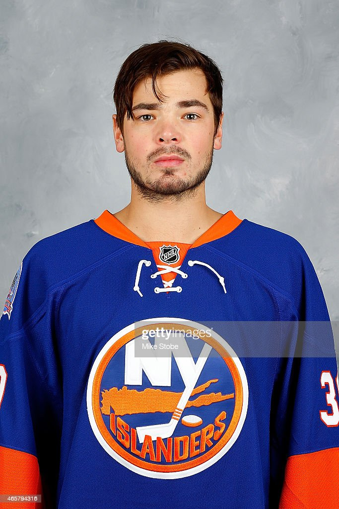 Michal Neuvirth #30 of the New York Islanders poses for his official headshot for the 2014-2015 season prior to the game against the New York Rangers at Nassau Veterans Memorial Coliseum on March 10, 2015 in Uniondale, New York.