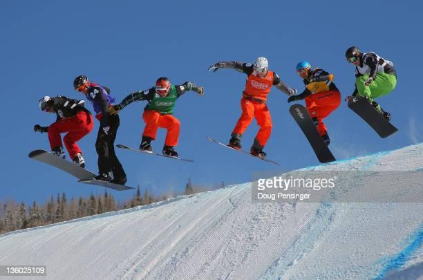 Michal Novotny of the Czech Republic, Lluis Marin Tarroch of Andora, Seth Wescott, Konstantin Schad of Germany, Graham Watanabe and Patrick Holland...
