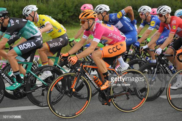 Michal Paluta of Poland and Team Ccc Sprandi Polkowice Pink Mountain Jersey / during the 75th Tour of Poland 2018 Stage 2 a 1563km stage from...