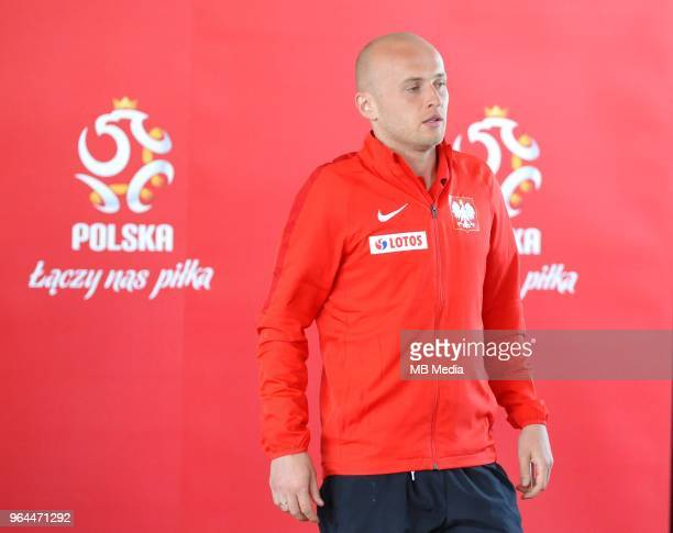Michal Pazdan during press conference at Arlamow Hotel during the second phase of preparation for the 2018 FIFA World Cup Russia on May 31 2018 in...