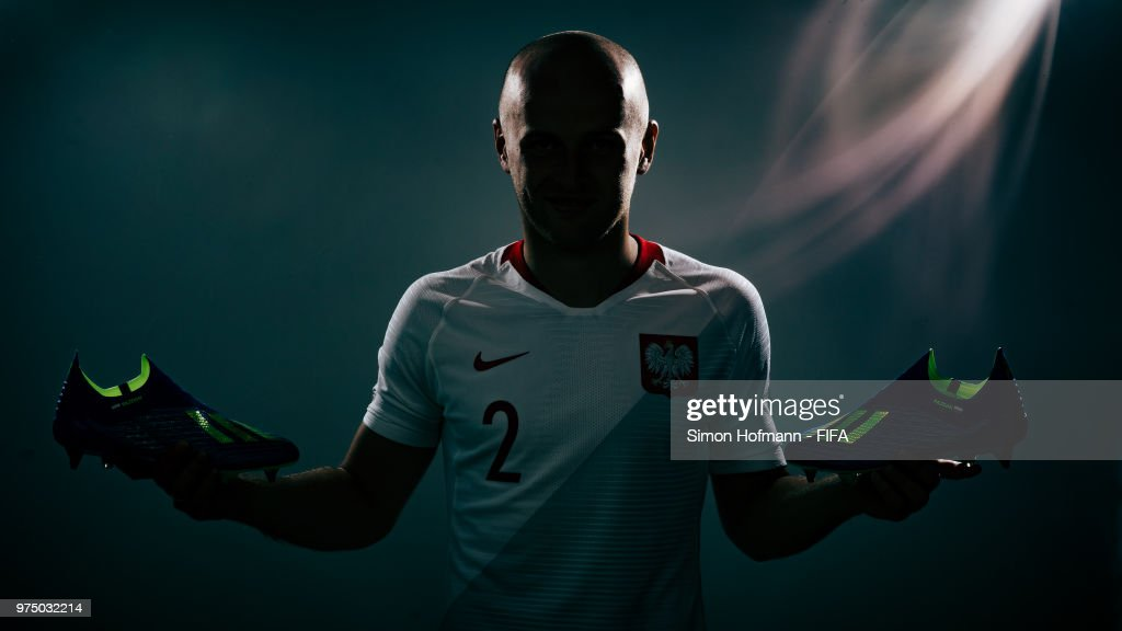 Michal Pazdan of Poland poses during the official FIFA World Cup 2018 portrait session on June 14, 2018 in Sochi, Russia.
