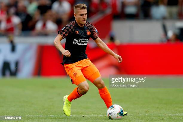 Michal Sadilek of PSV during the Dutch Johan Cruijff Schaal match between Ajax v PSV at the Johan Cruijff Arena on July 27 2019 in Amsterdam...