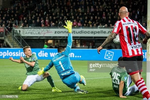 Michal Sadilek Of Psv Sparta Rotterdam Goalkeeper Ariel Harush News Photo Getty Images