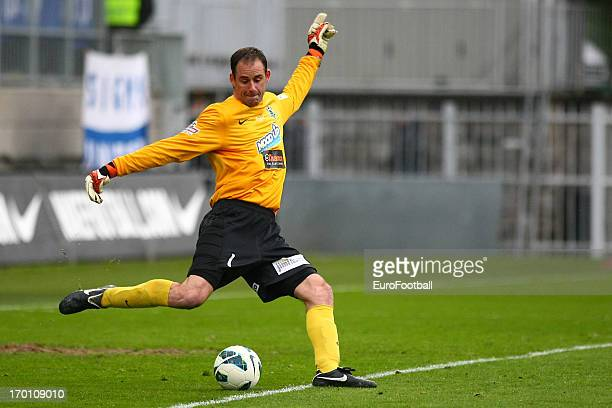 Michal Spit of FK Jablonec in action during the Czech First League match between FK Jablonec and SK Sigma Olomouc held on May 26, 2013 at the Chance...
