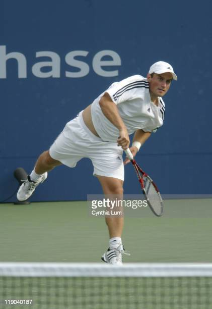 Michal Tabara during his second round match against Mardy Fish at the 2004 US Open in the USTA National Tennis Center in New York on September 2...