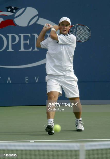 Michal Tabara during his second round match against Mardy Fish at the 2004 US Open in the USTA National Tennis Center in New York on September 2,...