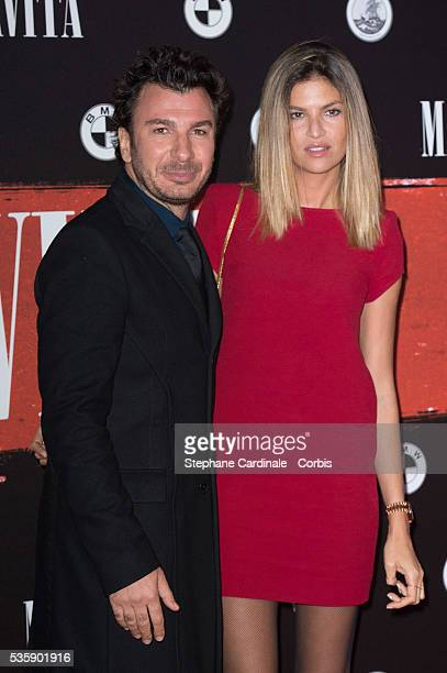 Michaël Youn and Isabelle Funaro attend the 'Malavita' premiere at Europacorp Cinemas at Aeroville Shopping Center in RoissyenFrance France
