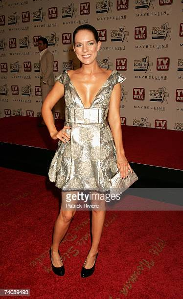 Michala Banas arrives at the 2007 TV Week Logie Awards at the Crown Casino on May 6 2007 in Melbourne Australia The annual television awards sees...