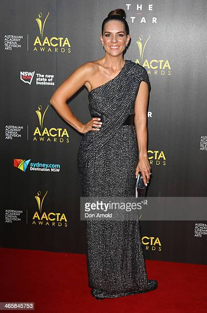 Michala Banas arrives at the 3rd Annual AACTA Awards Ceremony at The Star on January 30 2014 in Sydney Australia