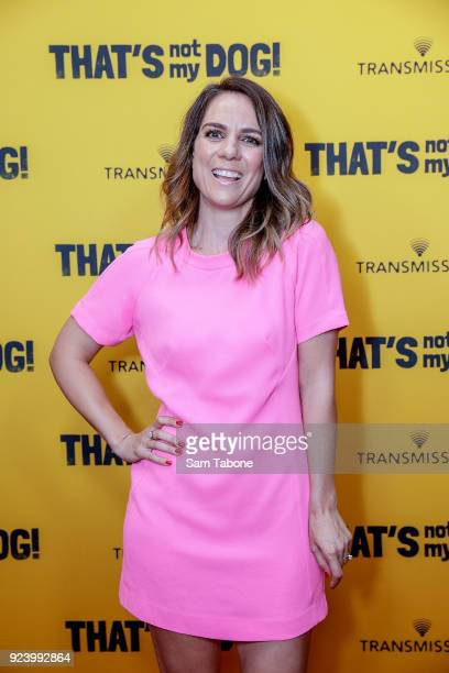 Michala Banas attends the Melbourne premiere of That's Not My Dog on February 25 2018 in Melbourne Australia