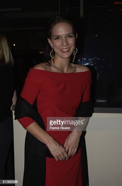 Michala Banas star of 'Always Greener' at the launch of Dior 66, a new collection of watches, held at Customs House in Sydney. .