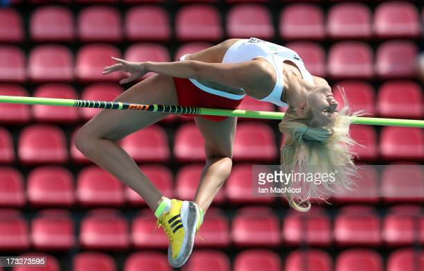 Michalina Kwasniewska of Poland competes in the Women's high jump during day one of The European Athletics U23 Championships 2013 on July 11 2013 in...