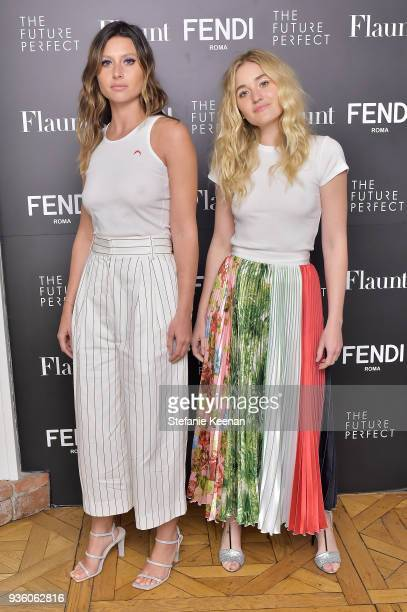 Michalka and Aly Michalka attend FENDI x Flaunt Celebrate The New Fantasy Issue at Casa Perfect on March 21 2018 in Beverly Hills California