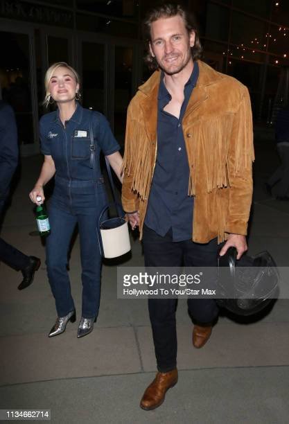 Michalka and Josh Pence are seen on April 02 2019 in Los Angeles California