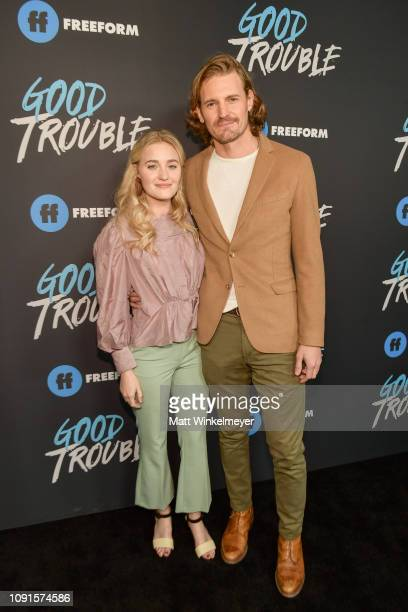Michalka and Josh Pence attend the premiere of Freeform's Good Trouble at Palace Theatre on January 08 2019 in Los Angeles California