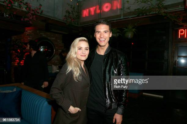 Michalka and Raymond Braun attend NYLON's Annual Young Hollywood Party sponsored by Pinkie Swear at Avenue Los Angeles on May 22 2018 in Hollywood...