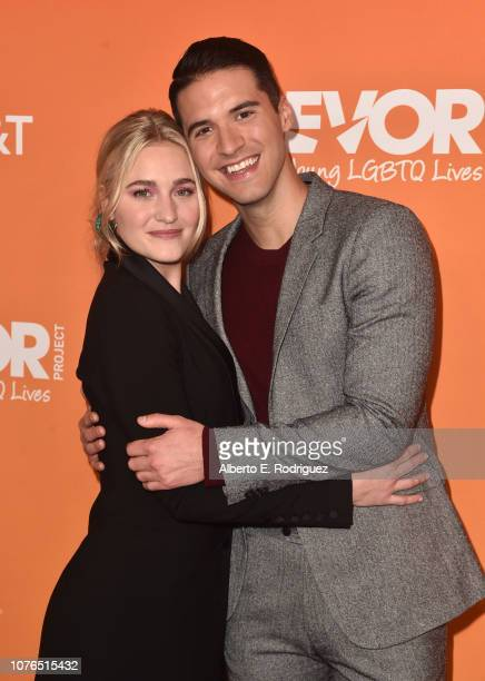 Michalka and Raymond Braun attend The Trevor Project's TrevorLIVE Gala at The Beverly Hilton Hotel on December 02 2018 in Beverly Hills California