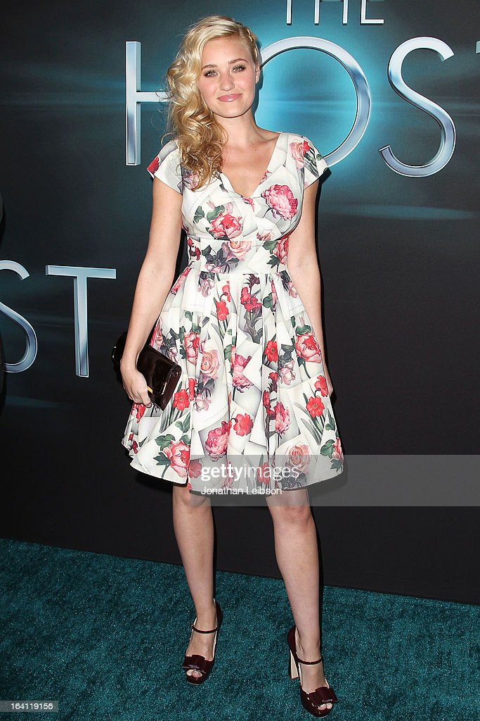 AJ Michalka attends the 'The Host' - Los Angeles Premiere at ArcLight Cinemas Cinerama Dome on March 19, 2013 in Hollywood, California.
