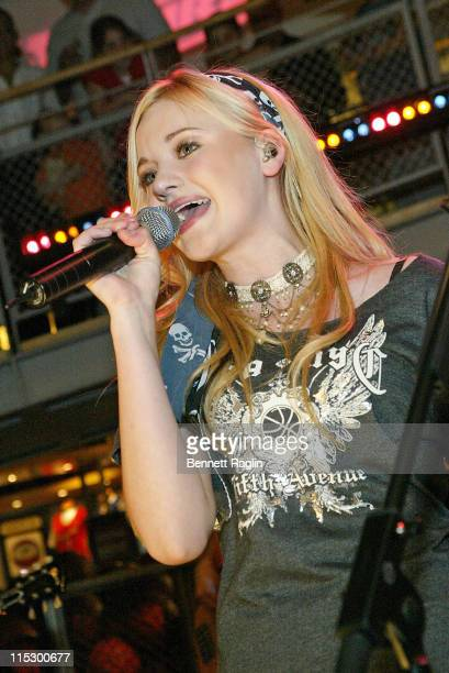 AJ Michalka during Aly AJ Perform at the NBA Store at NBA Store in New York New York United States