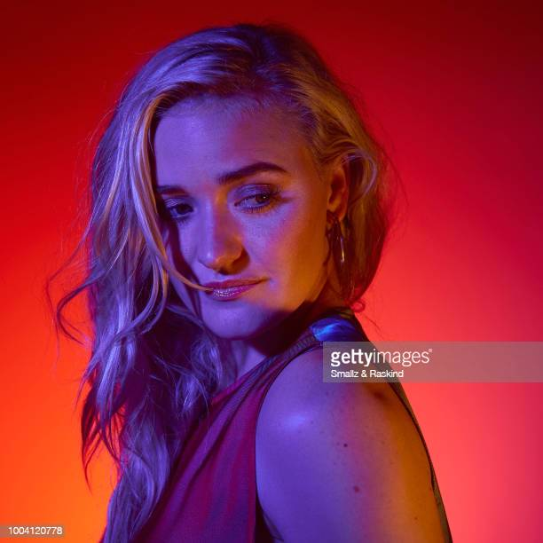 Michalka from ABC's 'The Goldbergs' and 'Schooled' poses for a portrait at the Getty Images Portrait Studio powered by Pizza Hut at San Diego 2018...