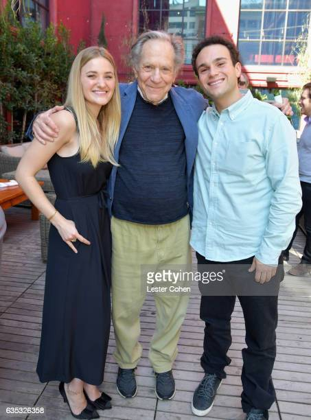 AJ Michalka George Segal and Troy Gentile attend George Segal's star ceremony on the Hollywood Walk of Fame on February 14 2017 in Los Angeles...