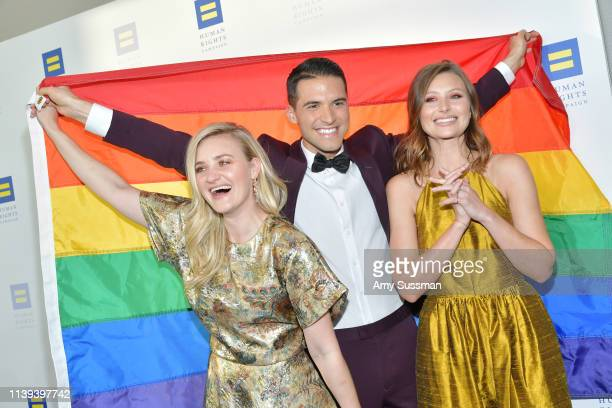 Michalka, Raymond Braun and Aly Michalka attend the Human Rights Campaign 2019 Los Angeles Dinner at JW Marriott Los Angeles at L.A. LIVE on March...