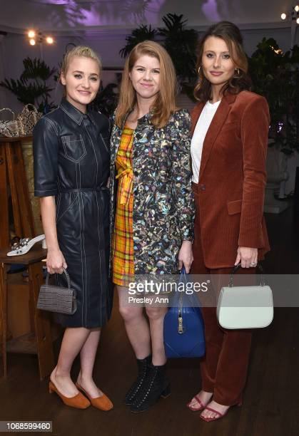AJ Michalka Vanessa Prager and Aly Michalka attend the BY FAR Party hosted by HAIM and Maya Rudolph at Chateau Marmont on December 4 2018 in Los...