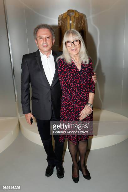 Miche Drucker and Dany Saval attend L'Alchimie secrete d'une collection The Secret Alchemy of a Collection Exhibition Preview at Galerie Azzedine...