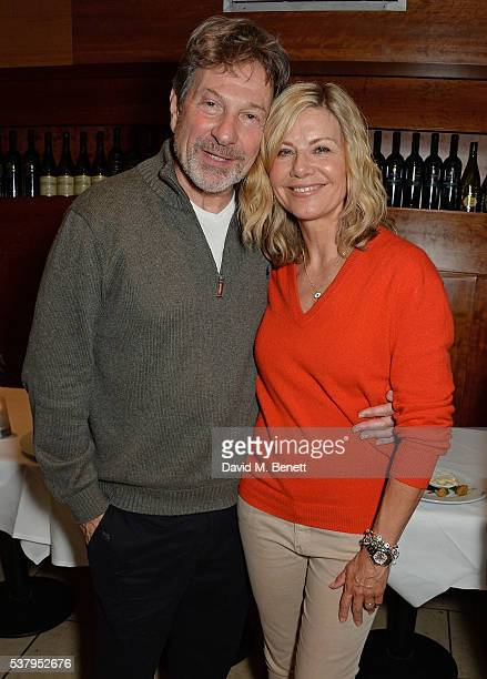 Micheal Brandon and Glynis Barber attend the press night after party of 'Off The King's Road' at Getti's on June 3 2016 in London England