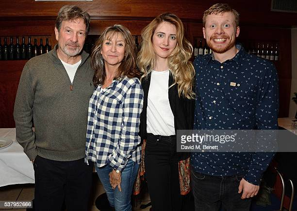 Micheal Brandon Cherie Lunghi Diana Dimitrovici and Luke Pitman and attend the press night after party of Off The King's Road at Getti's on June 3...