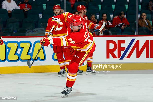 Micheal Ferland of the Calgary Flames skates in the warmup before an NHL game against the St. Louis Blues on October 22, 2016 at the Scotiabank...