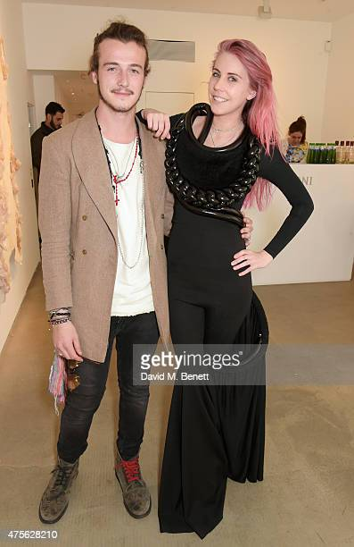 Micheal Neeson and India Rose James attend the Maison Mais Non launch party as Micheal Neeson launches fashion gallery in Soho on June 2 2015 in...