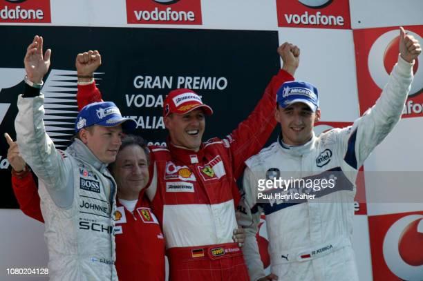 Micheal Schumacher, Jean Todt, Kimi Raikkonen, Robert Kubica, Grand Prix of Italy, Autodromo Nazionale Monza, 10 September 2006. Winner Michael...
