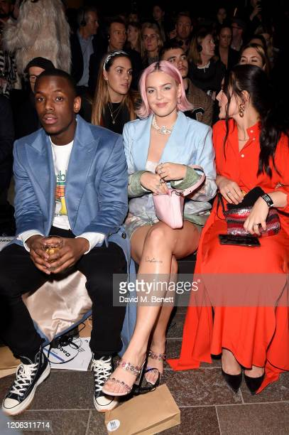Micheal Ward AnneMarie and Jessie Ware attend the Central Saint Martins MA Fashion Show during London Fashion Week February 2020 at Central Saint...