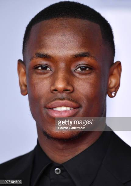 Micheal Ward attends The BRIT Awards 2020 at The O2 Arena on February 18 2020 in London England