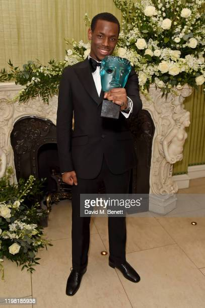 Micheal Ward attends the British Vogue and Tiffany Co Fashion and Film Party at Annabel's on February 2 2020 in London England