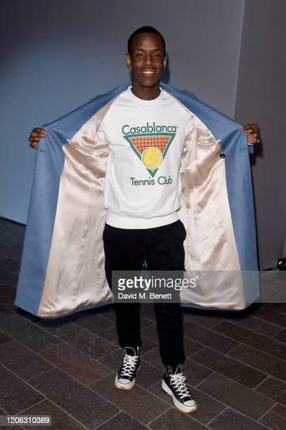 Micheal Ward attends the Central Saint Martins MA Fashion Show during London Fashion Week February 2020 at Central Saint Martins on February 14 2020...