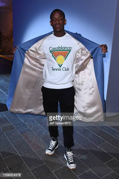 Micheal Ward attends the Central Saint Martins show during London Fashion Week February 2020 on February 14 2020 in London England